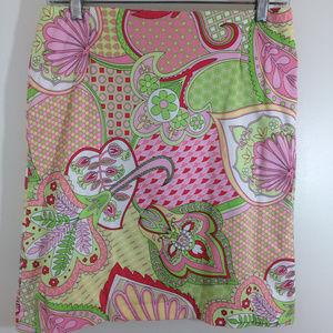 Melly M Signature Skirt Preppy Pink & Green, Sz. 4